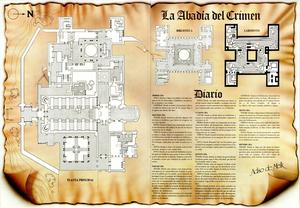 Карта Преступление в аббатстве