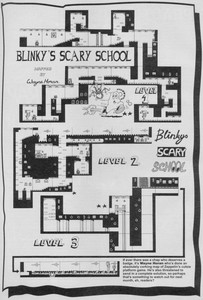 Карта Blinkys Scary School