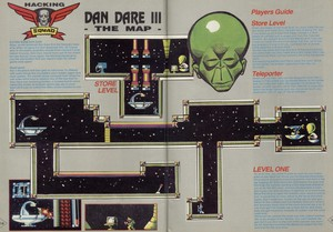 Карта Dan Dare III: The Escape