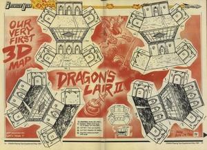 Карта Dragon's Lair II: Escape from Singe's Castle