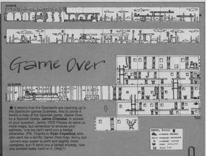 Карта Game Over
