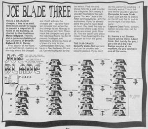 Карта Joe Blade III