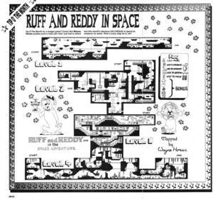 Карта Ruff and Reddy in the Space Adventure