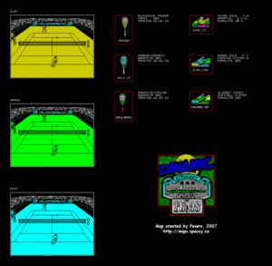 Карта Simulador Profesional de Tenis