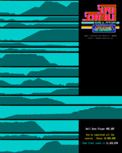Карта Super Scramble Simulator
