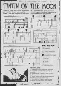 Карта Tintin on the Moon