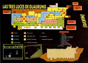 Карта Tres Luces de Glaurung, Las