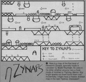 Карта Zynaps